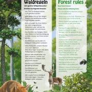 Waldregeln zweisprachig